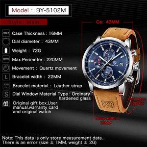 Image 5 - BENYAR relojes azules para hombre, cronógrafo de cuarzo deportivo, resistente al agua, militar, Masculino