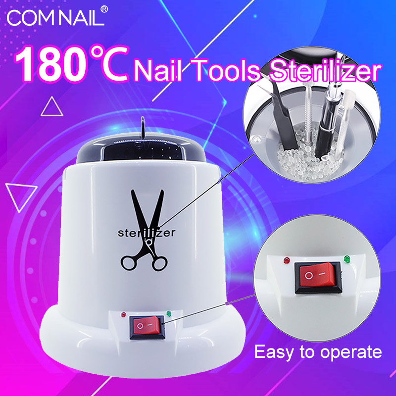 High Temperature Nail Tool Sterilizer For Manicure Steel Disinfection Sterilizing Machine Apparatus With Glass Balls
