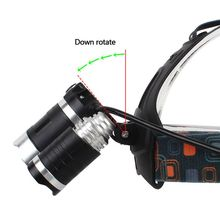 LED Headlights Mechanically Amplified Lithium Battery Rechargeable Glare Miner\s Lamp Mountain Climbing Hiking