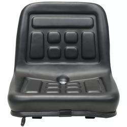 VidaXL Универсальный Высококачественный трактор регулировки сиденья ребёнка ройялас подвесом черная водостойкая PVC гидравлический инженерн...