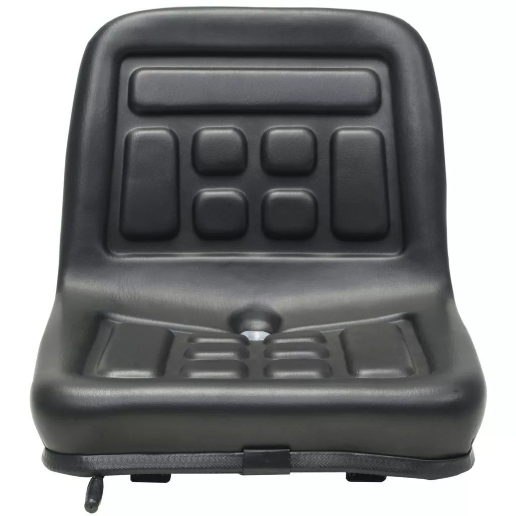 VidaXL Universal High-Quality Tractor Seat Adjustment With Suspension Black Water-Resistant PVC Hydraulic Engineering Vehicle