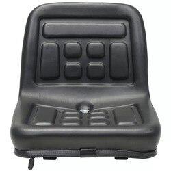 VidaXL Universele Hoogwaardige Tractor Seat Aanpassing Met Schorsing Zwart Waterbestendig PVC Hydraulische Techniek Voertuig