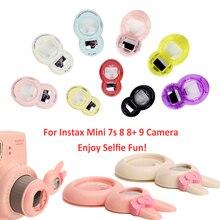 Câmera para fujifilm instax, mini 9, mini, 8, mini, 7s, pic 300, lente fechada com espelho de selfie com design clássico bonito