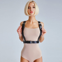HARNESS PU Leather Harness Sexy Garters Belts For Women Erotic Fetish Suspenders Straps Women Lingerie BDSM Belt Top Bondage(China)