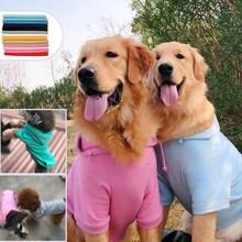 Собака самоед большая собака толстовка одежда для лабрадоров для больших собак Bluza одноцветные кофты с капюшоном Большие размеры пальто золотой ретривер