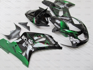 Plastic Fairings for GSXR 600 750 1000 2002 GSX R 600 750 1000 2002 Fairing 2000 - 2003 K1-2 Black Green(China)