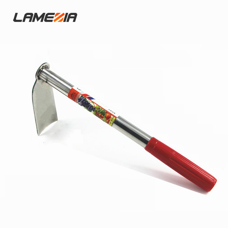 LAMEZIA Household Stainless Steel Hoe Weeding Rake Planting Vegetables Farming Fishing Farm Gardening Agriculture Tools