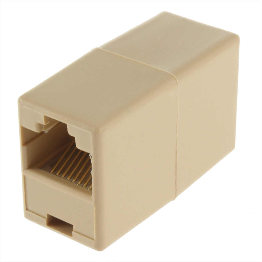 1Pcs RJ45 for CAT5 Ethernet Cable LAN Port 1 to 1 Socket Splitter Connector Adapter