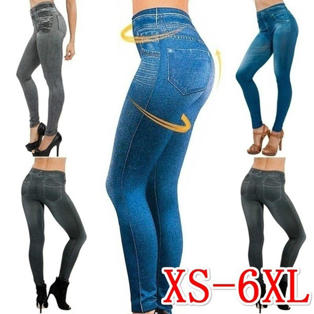 Women's Jeans Stretch Jeans Do Not Fade Without Deformation Slim Tight Blue Jeans Autumn and Winter Pants Washed Pencil Pants Jeans Women Bottom ! Plus Size Women's Clothing & Accessories