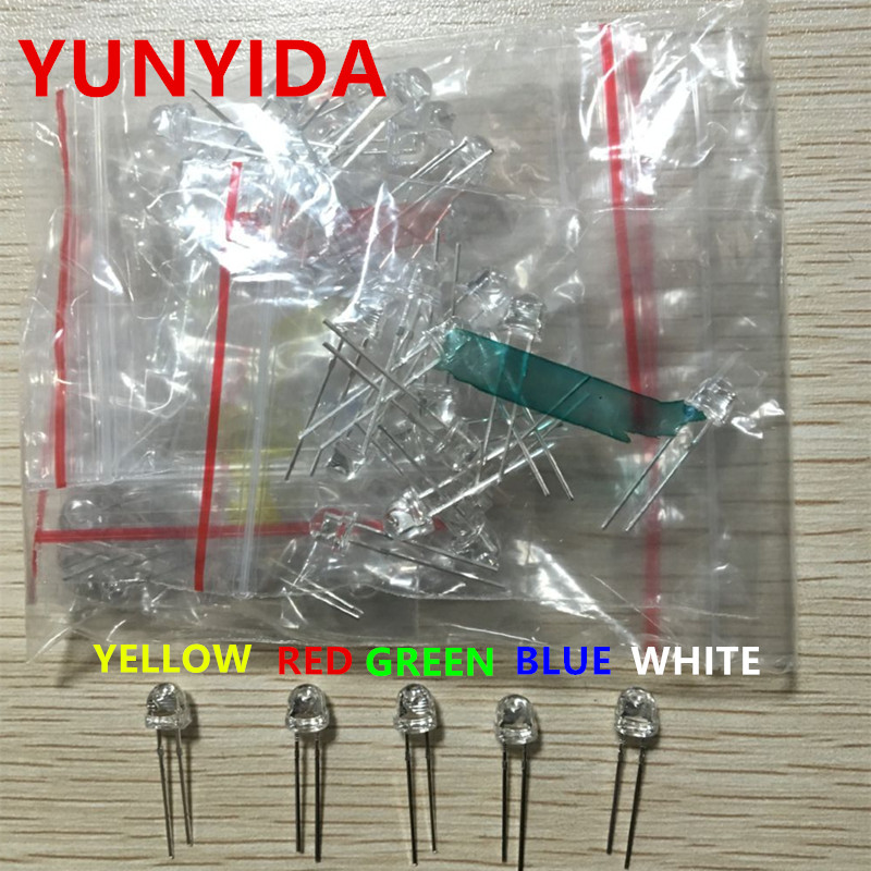 20 PCS OF 5mm DIFFUSED LED DIODES 10 x GREEN 10 x RED pcs Electronic Components