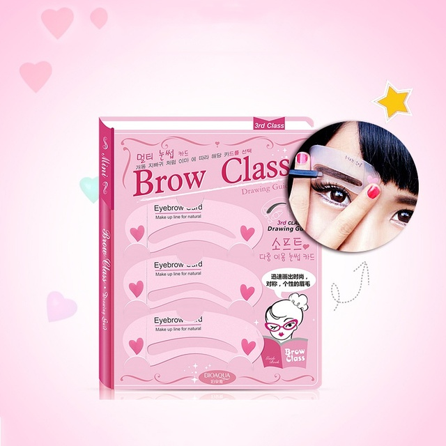 3 Pieces / Sets Of Multi-use Thrush Card Aids Artifact Thrush Eyebrows Mold Lazy Eyebrow Beauty Makeup Tools Brow Stencil 2