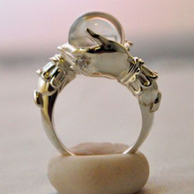 Magic Prophecy Crystal Ball Ring For Woman Retro Alloy Holding Crystal Ring 2020 New Fashion Party J