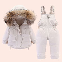 BINIDUCKLING 2020 Winter Infant Parkas Clothes Set Thick Warm Snowsuit For Baby Boys Girls Hooded Zipper Toddler Parkas Clothing