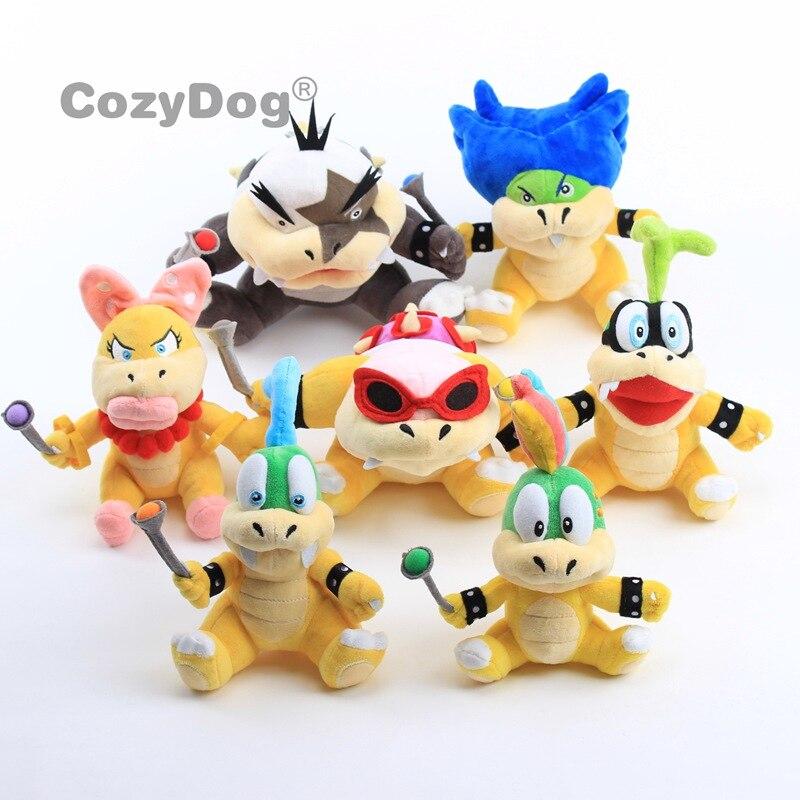 7pcs/set 18-23 cm Mario Series Koopa Bowser baby dragon plush doll Larry Iggy Lemmy Koopa Wendy Roy Plush toy Children Gift(China)