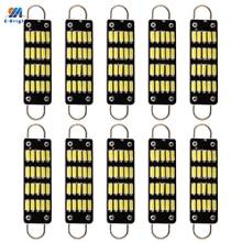 10PCS Festoon C5W Led 엄밀한 루프 44MM 돔지도 빛 자동차 전구 12VDC 4014 4410 561 567 562 번호판 램프 흰색 인테리어