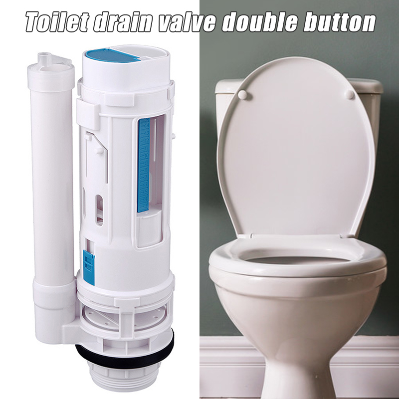 Water Tank Connected 2 Flush Fill Toilet Cistern Inlet Drain Button Repair Parts Water Outlet I88 #1