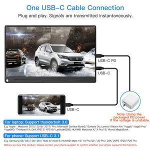 """Image 4 - Eyoyo EM13Q 13.3 """"schermo LCD portatile per Monitor da gioco HDMI con VESA UHD 3840X2160 4K IPS USB tipo C per PC Phone PS4 Xbox Switch"""