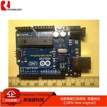 UNO R3 הרשמי תיבת ATMEGA16U2 + MEGA328P שבב עבור Arduino UNO R3 פיתוח לוח ATMEGA328P