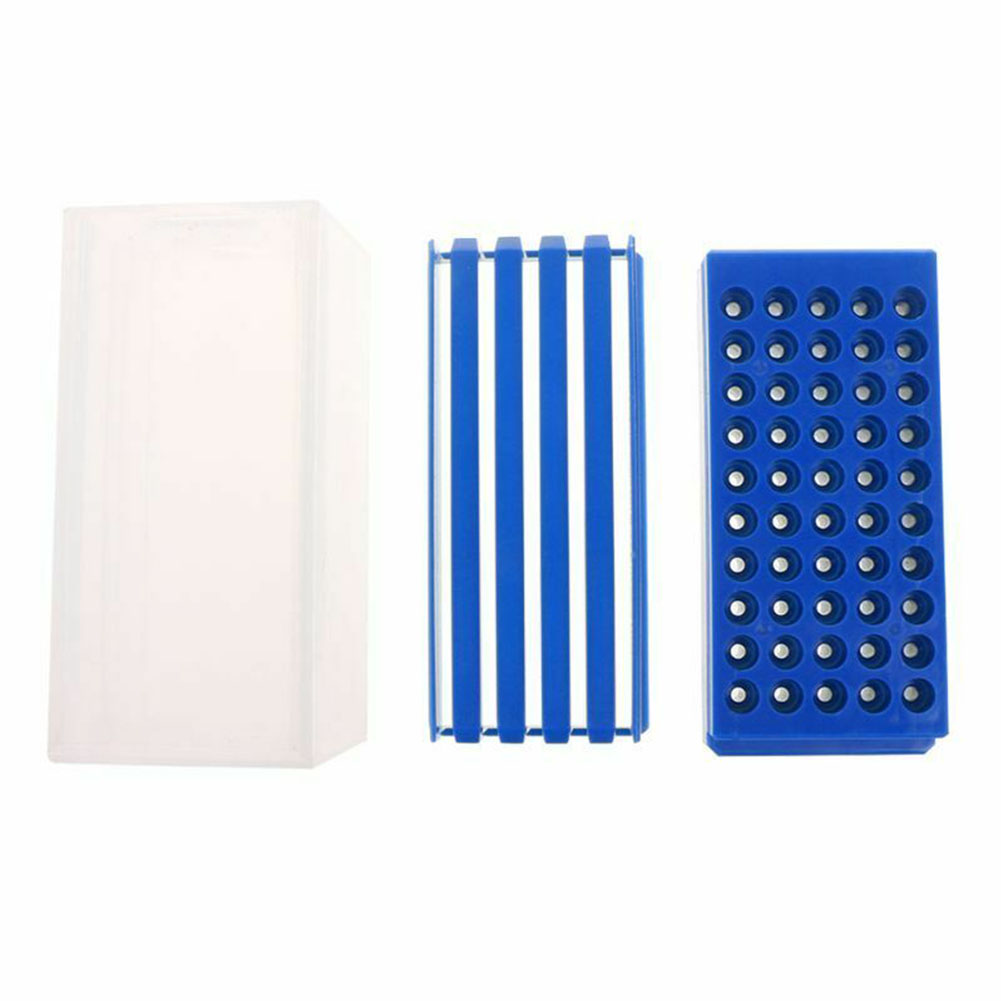 50 Holes Transparent Tool PP Portable Practical Drill Bit Organizer Milling Cutters Drawer Type Durable Storage Box Accessories