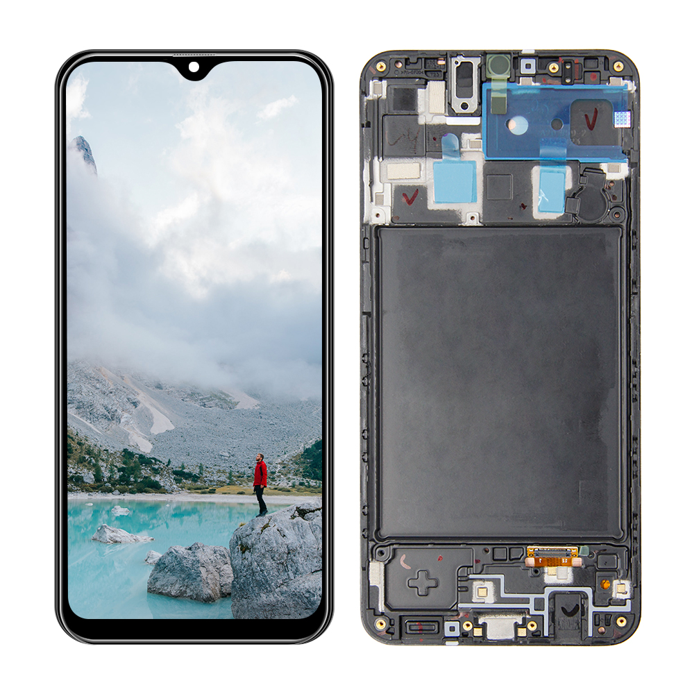 AMOLED LCD For Samsung-Galaxy A20 A205 <font><b>A205F</b></font> <font><b>SM</b></font>-<font><b>A205F</b></font>/DS LCD Display Touch Screen Digitizer Assembly Replacement image