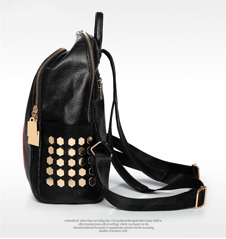 Ha74568c26a5945b7a7a16aff2b9482daJ Luxury Famous Brand Designer Women PU Leather Backpack Female Casual Shoulders Bag Teenager School Bag Fashion Women's Bags