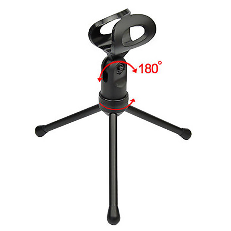Clearance SaleùMicrophone with Holder Stand-Clip for PC Chatting Singing Karaoke Laptop Wired Audio²