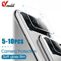5-10 Uds lente de la cámara de vidrio protector para Xiaomi Redmi Nota 10 9 8 9t 8t 7 4 4x Pro lente volver película para Xiaomi 11 10 ultra cubierta