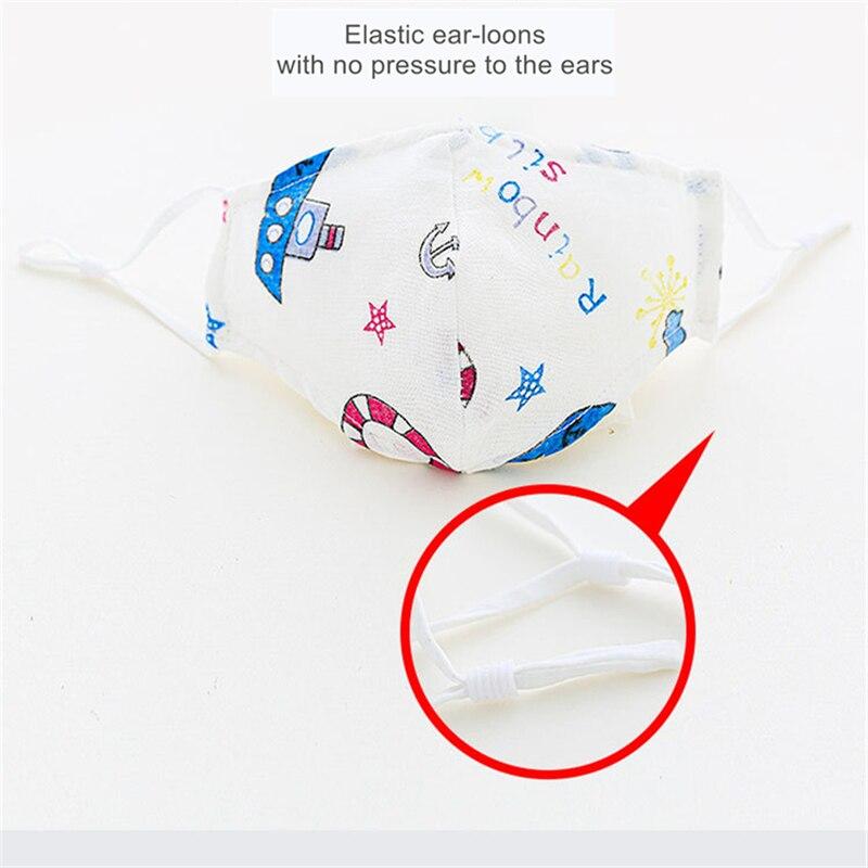 0-4-12 Age Newborn Kids Washable Face Mask 4-layer Children Mask Mascarillas Children Cartoon Mask Washable Cotton Mask 4