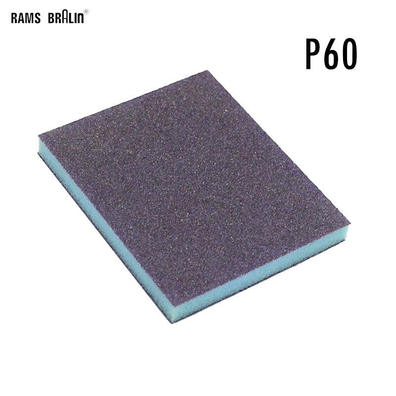 1 Piece Double-sided Sponge Sand Block Sandpaper Brick P60-P220 For Hand Spherical Grinding