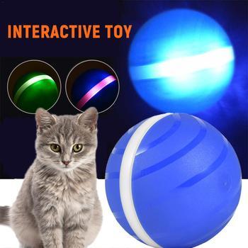 Segunda Generación de juguetes para perros a prueba de agua para mascotas bola malvada Anti-mordida Medio ambiente iluminación giratoria Bola de Juego 20E