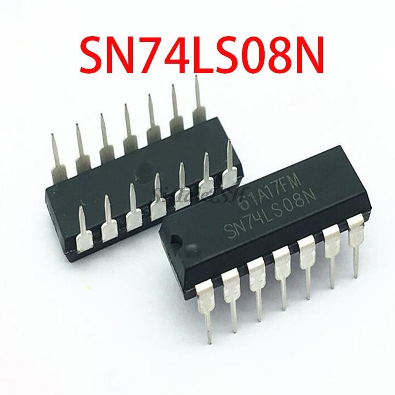 10PCS SN74LS08N DIP14 SN74LS08 DIP 74LS08N 74LS08 SN74LS08 HD74LS08P DIP-14 New And Original IC