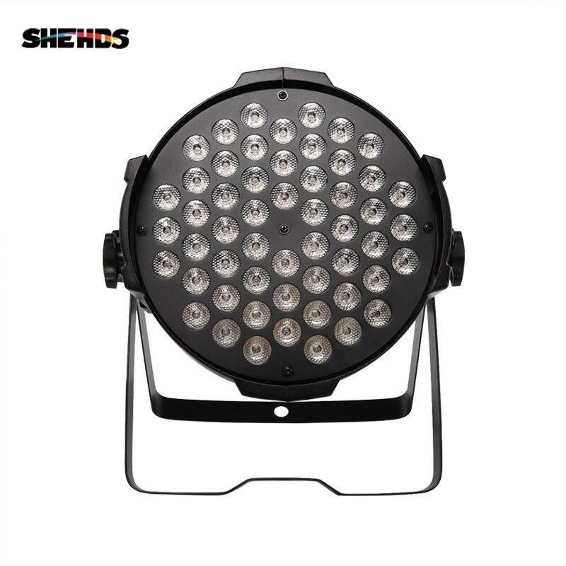 SHEHDS Aluminum Alloy Aviation Plug LED Par 54x9W RGB LED Lighting DMX512 Projector Floodlight Can Wash DJ Stage Light Design