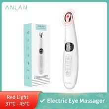 ANLAN elektrikli göz masajı Anti kırışıklık göz masajı Anti-Aging göz bakımı LED ekran sıcak masaj USB şarj edilebilir masaj cihazı