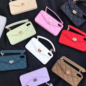 Image 3 - Crossbody Wallet Case Cover For iPhone 12 Pro mini 11 Pro XS MAX XR X 8 Plus Case Card Slot Handbag Purse With Long Strap Chain
