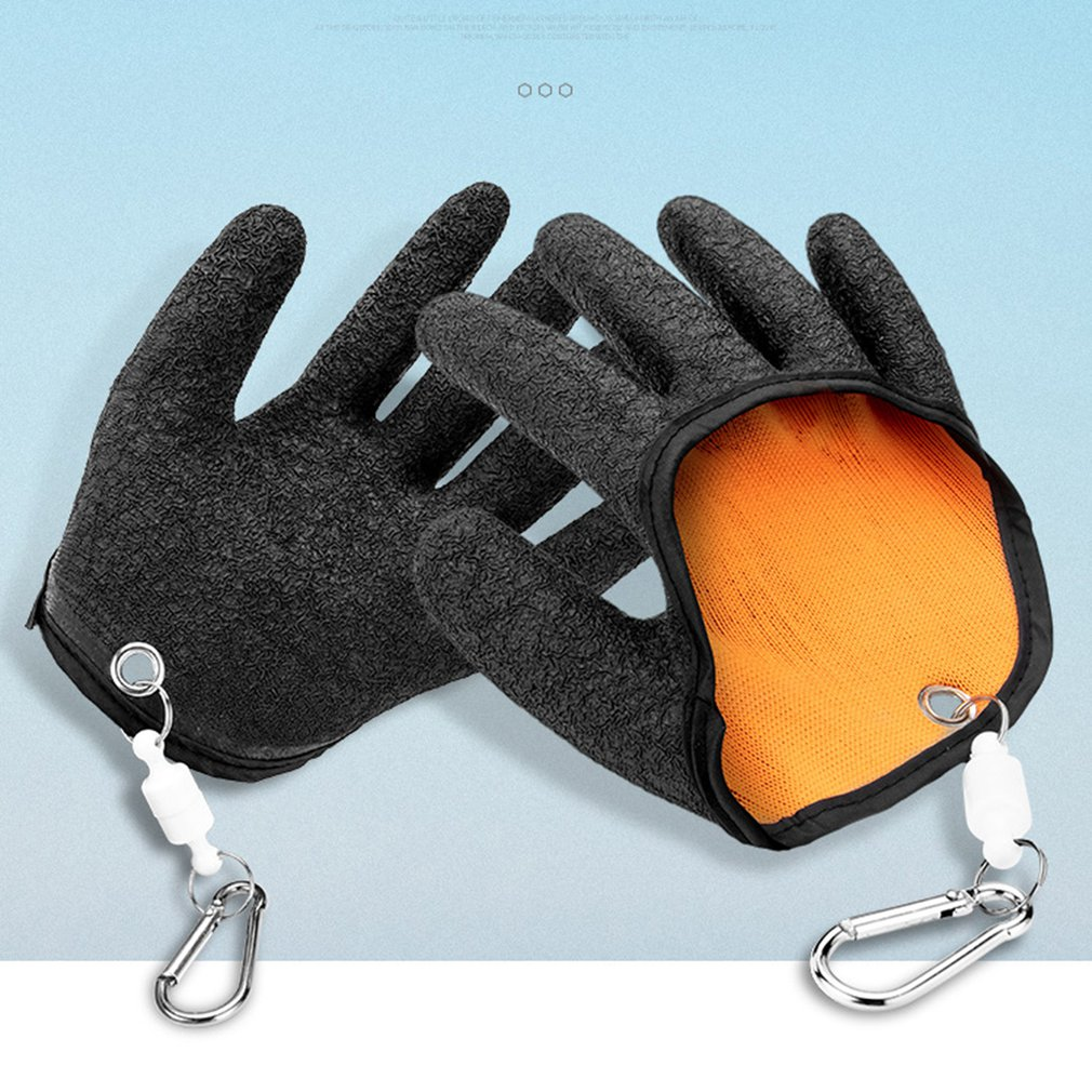 Catch Fish Anti-Skid Latex Gloves Stab-Proof Anti-Skid Waterproof Special Gloves With Strong Magnetic Buckle