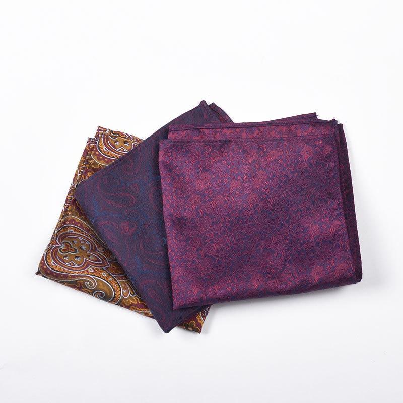 Men Polyester Jacquard Kerchief Suit Versatile Pocket Square Groom Best Man Chest Towel