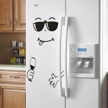 Get more info on the 4Types Happy Yummy Face Kitchen Fridge Vinyl Stickers Cute Fridge Sticker Art Refrigerator Wall Decals Home Decor