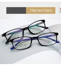 2019 Korean Optical Frames EyewearTR90 Titanium Glasses Frame Men Rectangle Eye Glass Clear lens Eyeglasses