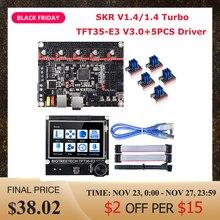 BIGTREETECH BTT SKR 1.4 Turbo SKR V1.4 Control Board+TFT35-E3 V3.0 Touch Screen TMC2208 TMC2209 Driver MKS GEN L Ender 3 Upgrade