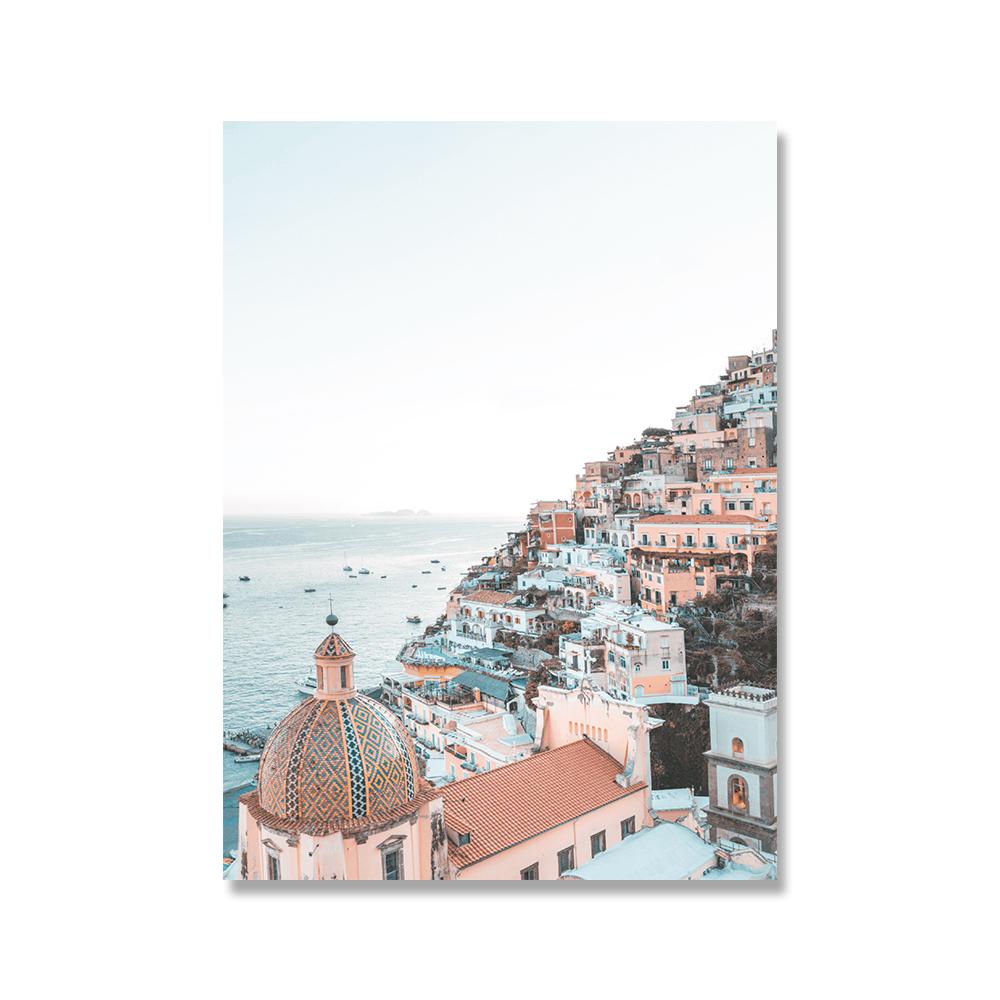 Italy-Amalfi-Coast-Flower-Poster-Nature-Landscape-Print-Sea-Beach-Dream-Quote-Canvas-Art-Painting-Seascape (1)