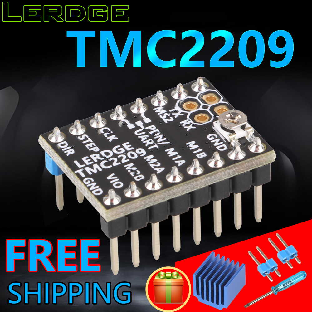 LERDGE TMC2209 Stepper Motor Driver UART VS TMC 2208 A4988 Lv8729 3D Printer Parts Stepstick 2.0A Ultra-silent Ender3