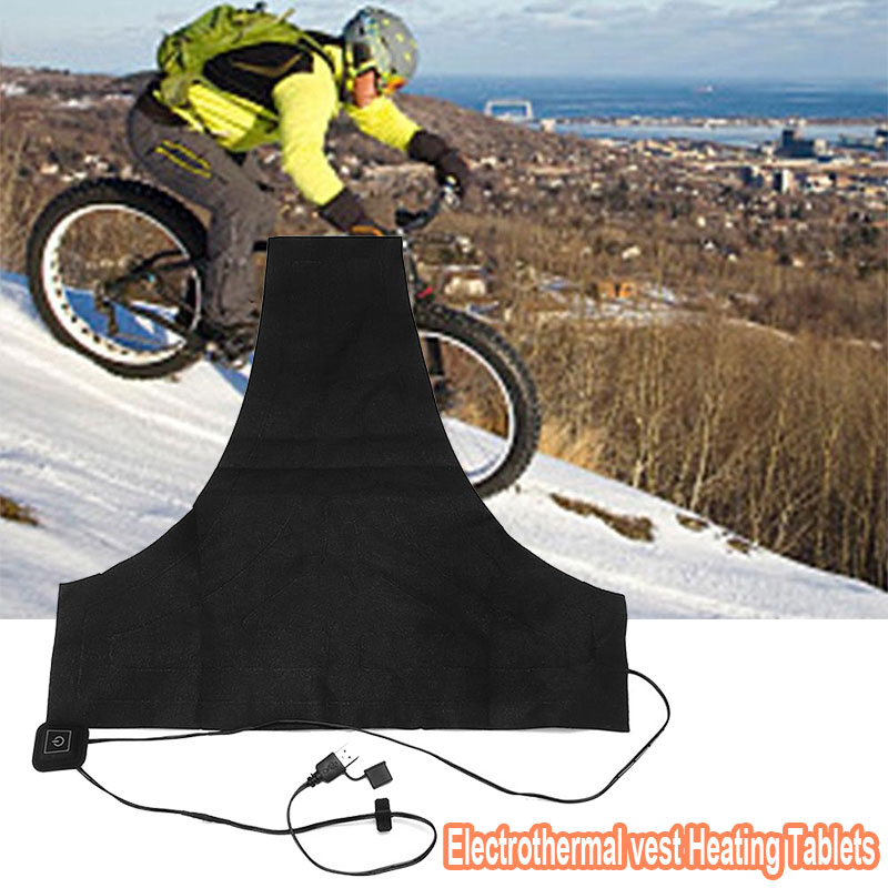 Electric Heating Pad Clothes Heater Warmer Pads Durable USB Black Jacket Winter Mobile Warm Gear Thermal Clothing