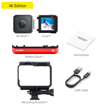 100% Original Insta360 ONER 4K Edition & Twin Edition Action Video Camera 5.7K with 360/4K wide angle waterproof for Sport Cam 7