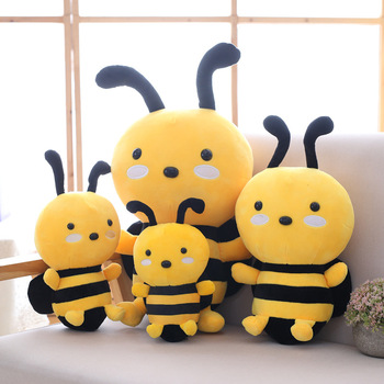 20cm Kawaii Honeybee Plush Toy Cute Bee With Wings Stuffed Baby Babies Dolls Lovely Toys For Kids Children Appease Birthday Gift 28cm super cute sitting mother and baby koalas plush toys stuffed koalas dolls kawaii kids toys soft pillow lovely birthday gift