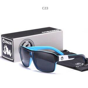 Image 3 - Mirrored lens Mannen Dragon Merk Ontwerp Rijden Vissen zonnebril Vierkante Glazen Voor Mannen UV400 Zomer Shades Eyewear