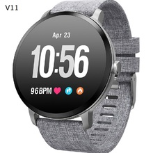 V11 Smart Watch Men 1.3 Inch Screen Heart Rate Monitor Message Push Sports Fitness Tracker Wristband Smartwatch for Android IOS