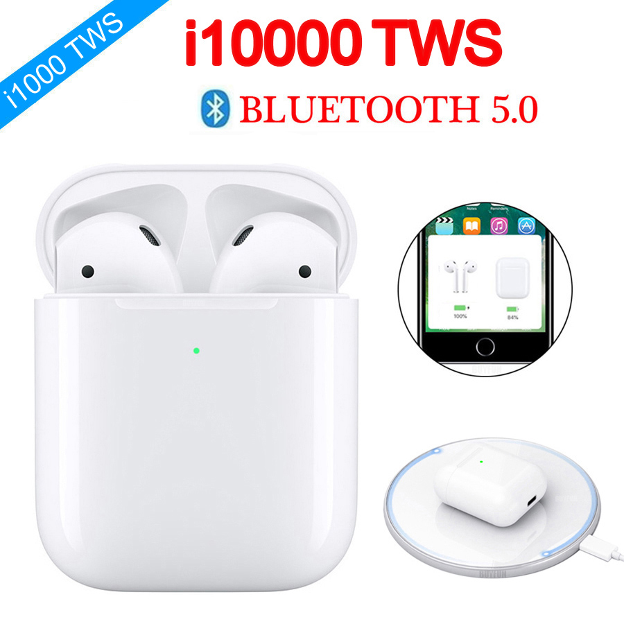 NEW 2019 I10000 TWS Wireless Earphone Bluetooth Earbuds 6D Super Bass I10000tws Pk I20 I60 I80 I100 I200 I10000 I2000 I5000 Tws