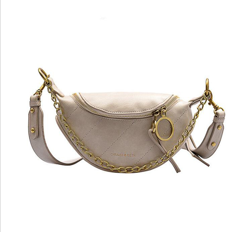Luxury brand New style waist bag ladies shoulder messenger chest bag fashionable and fashionable wild net red texture small bag