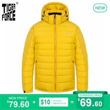 TIGER FORCE 2020 New Men's winter jacket for Men clothing Medium-long Hooded Hooded