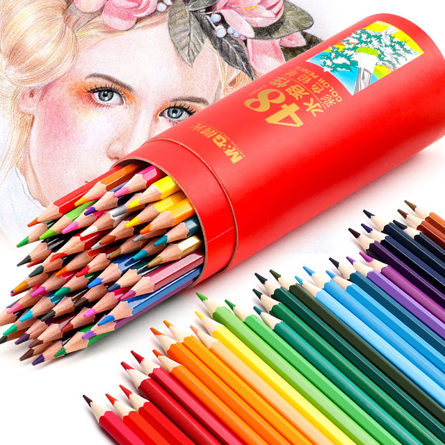 48 Colors Wood Colored Pencil Artist Profession Wooden Oil Water Color Pencils For School Drawing Sketch Art Painting Supplies